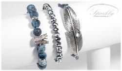 Set náramků - Feather se zirkonovou korunkou