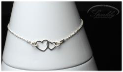 Stříbrný náramek Live Love