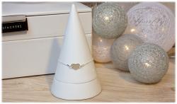 Luxusní stříbrný náramek se srdíčkem