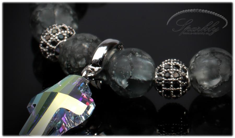 náramek, dámský náramek, swarovski elements, minerál, minerální, dámský náramek, elegantní náramek,