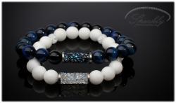 Partnerský set White&Blue Crystals