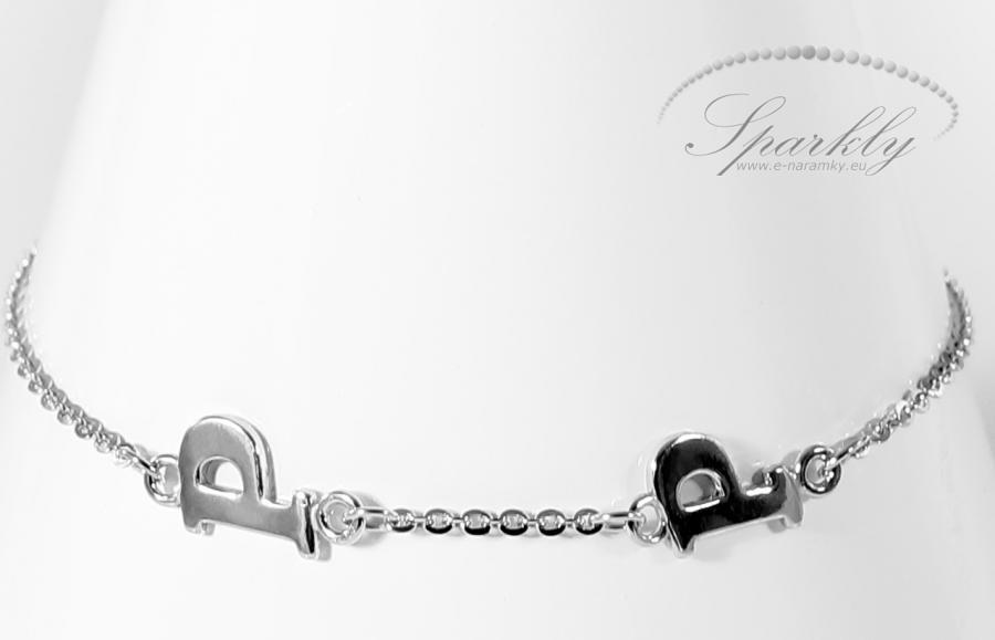 Okouzlete nejoblíbenějšími stříbrnými náramky Sparkly písmenky na přání. Dámský náramek v rhodiované