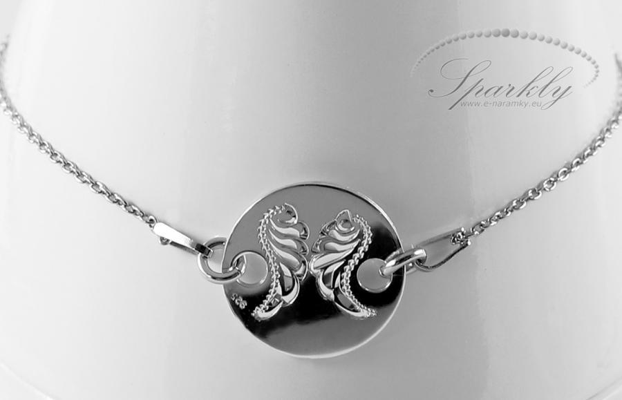 ehká a zároveň nepřehlédnutelná! Dámský stříbrný náramek (Ag 925) navržený designery Sparkly okouzlí